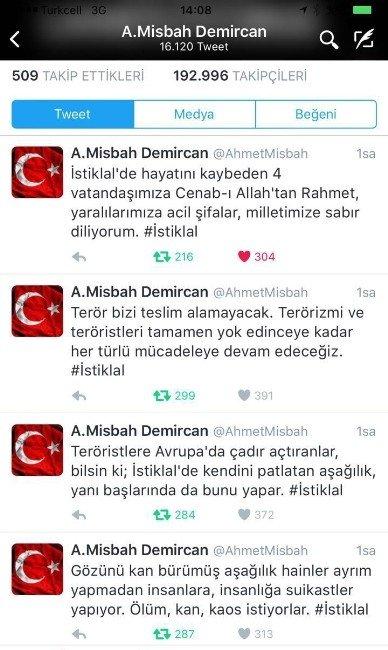 """Başkan Ahmet Misbah Demircan: """"Terör Bizi Teslim Alamayacak"""""""