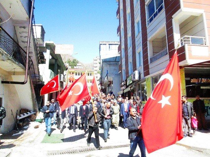 Siirt'te Teröre Tepki Yürüyüşü