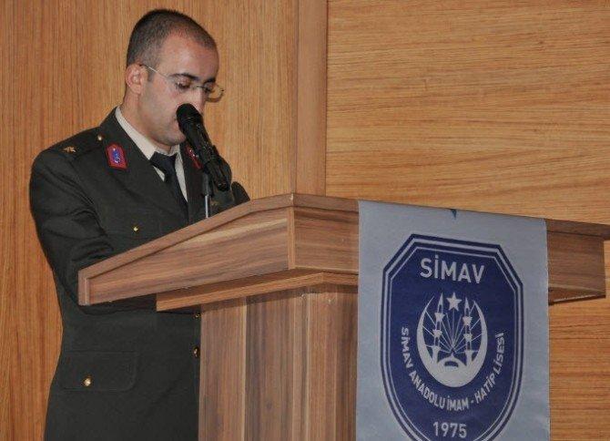 Simav Anadolu İmam Hatip Lisesi'nde Şehitler Günü Programı