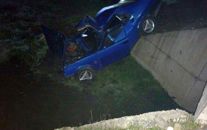 AT Sürüsüne Çarpan Sürücü Ağır Yaralandı