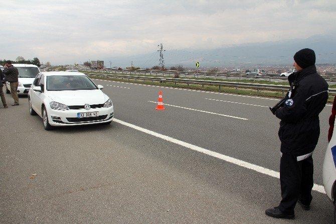 Bolu TEM'de Şüpheli Araç, Polisi Alarma Geçirdi