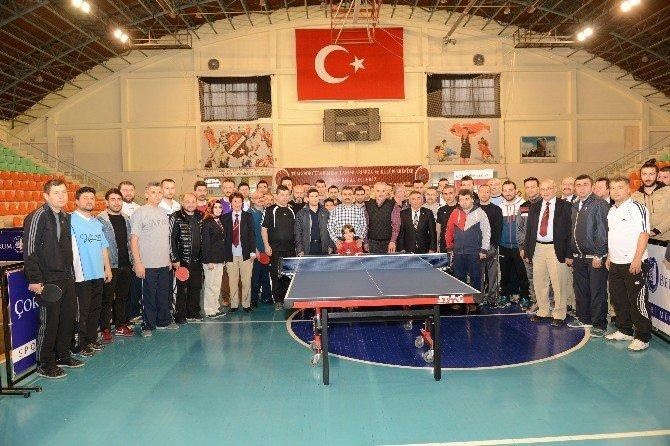 Başkan Külcü Masa Tenisi Müsabakalarını İzledi