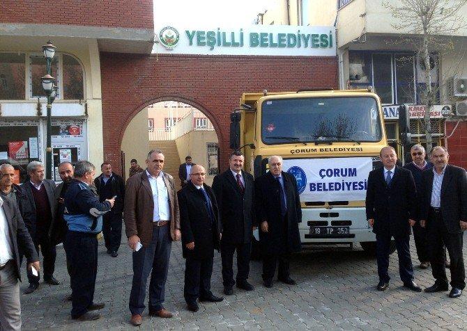 Çorum Belediyesi'nin Yardım Tırları Mardin'e Ulaştı