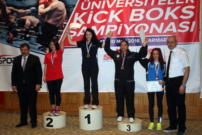 Üniversiteler Arası Türkiye Kick Boks Şampiyonası Sona Erdi