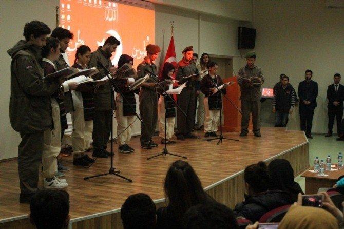 Bayramiç MYO'da İstiklal Marşı'nın Kabulü Ve Çanakkale Savaşları'nın Yıldönümü Etkinliği