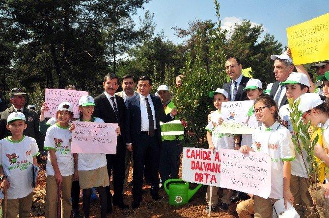 Cumhurbaşkanı Erdoğan'ın Katılımıyla İzmir'e Fidanlar Dikildi