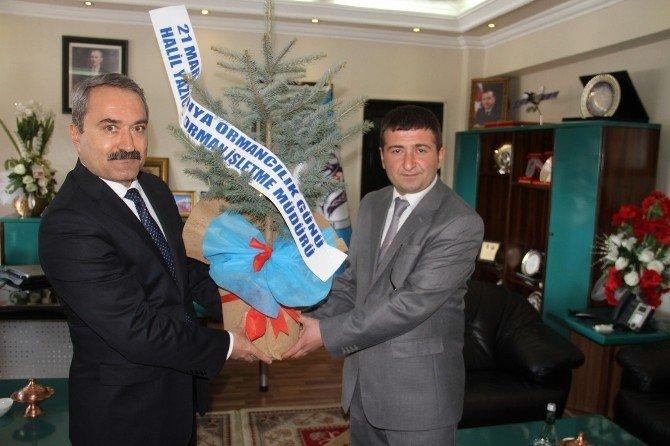 Orman İşletme Müdürü Halil Yazıcı'dan Erzincan Belediyesine Ziyaret