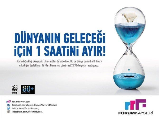 Forum Kayseri'den Dünya Saati'ne Destek