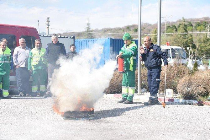 Karesi Belediyesi Personeline Yangın Eğitimi
