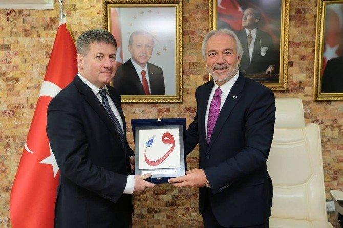 Macaristan Heyeti Başkan Saraçoğlu'nu Ziyaret Etti