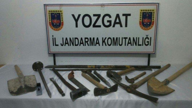 Yozgat Jandarma'dan Kaçak Kazıya Suçüstü