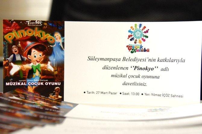 Süleymanpaşa Belediyesi Çocuk Kulübü Üyeleri Pinokyo Müzikal Çocuk Oyununu Ücretsiz İzleyecek