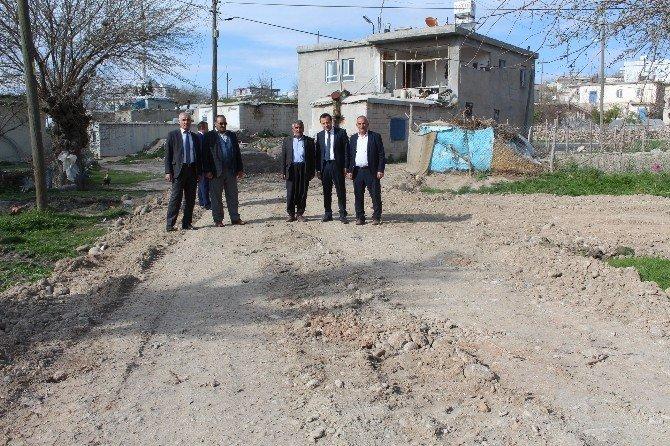 Samsat'ta Köy Yolları Stabilize Çalışmaları Başladı