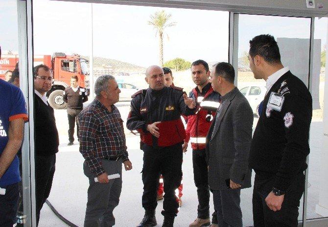 Büyükşehirden Söke Ve Kuşadası Hastanelerinde Yangın Tatbikatı