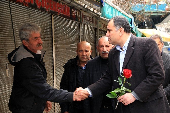 Taşdelen'den Çiçekçi Esnafına Destek Ziyareti