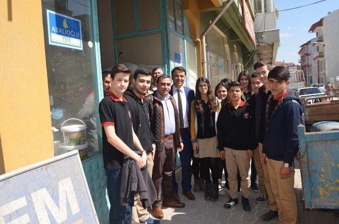 Kulalı Öğrenciler Esnafları Ziyaret Etti