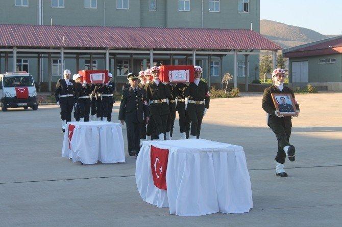 Mardin Şehitleri Törenle Memleketlerine Uğurlandı
