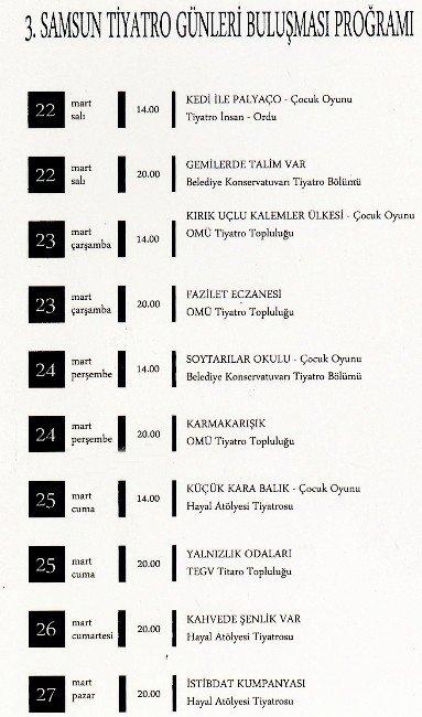 """""""3. Samsun Tiyatro Günleri"""" Başladı"""