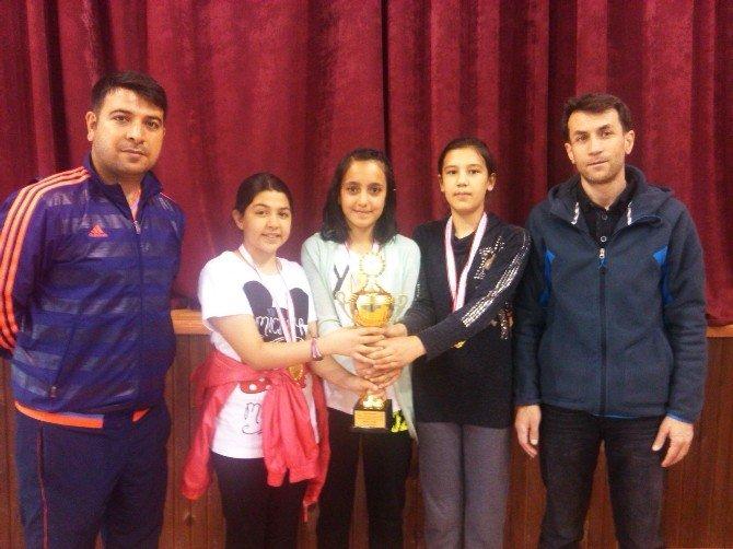 Küçük Kızlar Masa Tenisi Şampiyonu Gölkent Oldu