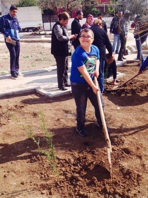 Reyhanlı'da Down Sendromlu Öğrenciler Fidan Dikti