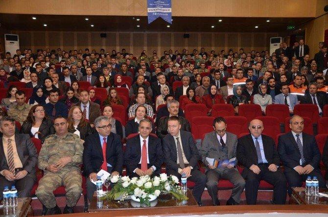 Afet Ve Acil Durumlarda Alınması Gereken Önlemler Konulu Eğitim Töreni Açılış Programın Yapıldı