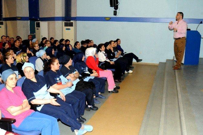OMÜ'de Hastane Personeline 'İş Sağlığı Ve Güvenliği' Eğitimi