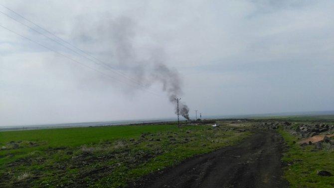 Sulamada kullanılan trafo panoları yandı