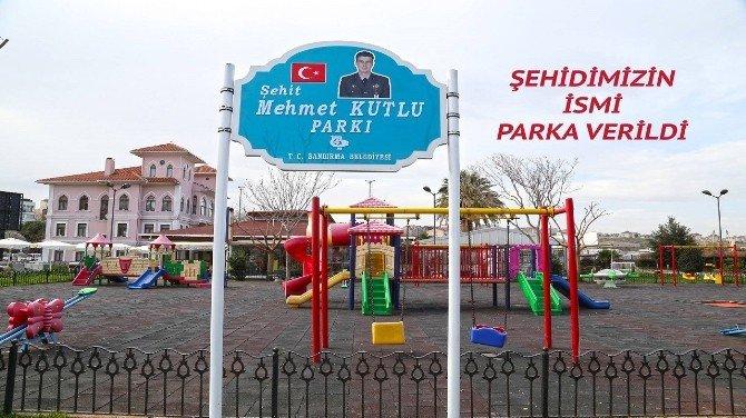 Şehit Astsubay Mehmet Kutlu'nun İsmi Parka Verildi