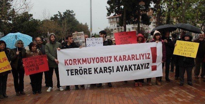 Ankara Ve İstanbul'da Yaşanan Terör Saldırıları Tekirdağ'da Kınandı
