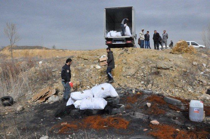 Uşak'ta 358 Kilo Esrar İmha Edildi