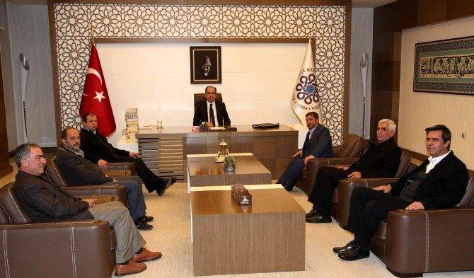 Toptancılar Sitesi Yönetiminden Başkan Altay'a Ziyaret