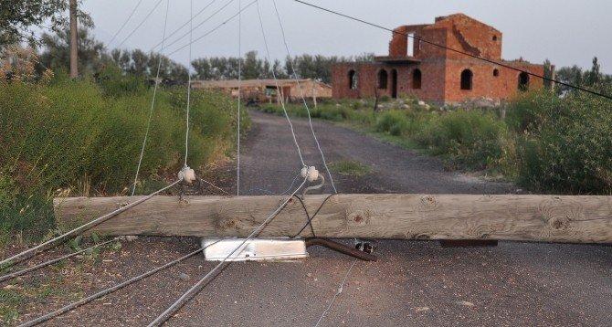Aksaray'da Şiddetli Fırtına