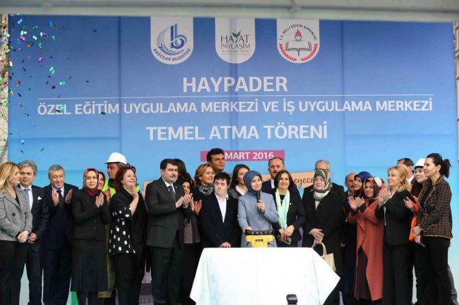 Sare Davutoğlu, HAYPADER'in temel atma törenine katıldı