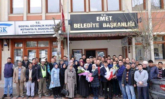 Belediye Başkanı Mustafa Koca Taşeron İşçilerle Bir Araya Geldi