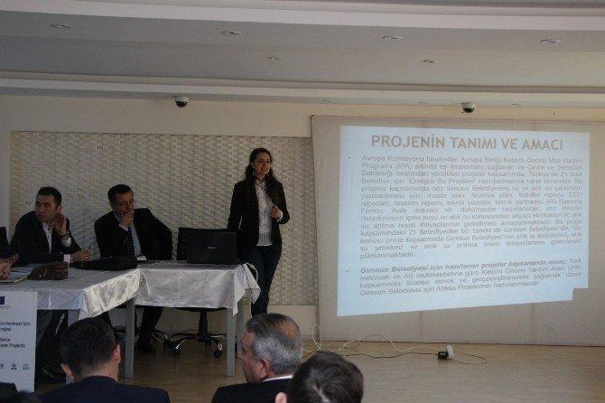 Giresun'da AB Destekli Atık Su Arıtma Projesi Halka Tanıtıldı