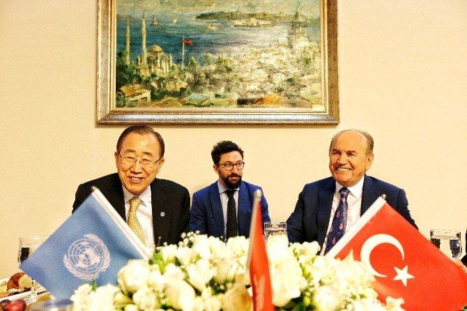 Kadir Topbaş, BM Genel Sekreteri Ban-ki Moon İle Bir Araya Geldi