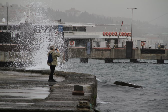 İstanbul'da lodos etkili oldu