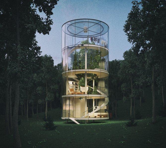 """Tasarım harikası """"cam evin""""yapımına başlanıyor"""