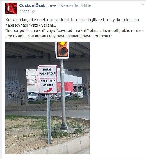 Kuşadası Belediyesi'nin İngilizcesi Sosyal Medyayı Salladı