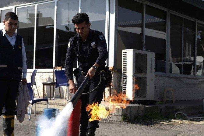 Çevik Kuvvet Personeline Yangın Eğitimi
