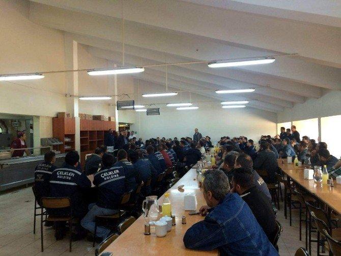 Tes-iş Sendikası Seyitömer Termik Santrali'nde İşçilerle Buluştu