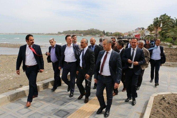 Başkan Savaş Köprü İnşaatında İncelemede Bulundu