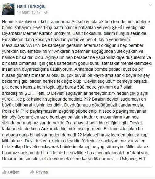 Bayburtlu Şehit Astsubay Üstçavuş Bir Hafta Önce Sosyal Medyadan İşte Böyle Mesaj Vermişti