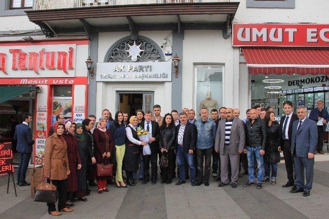 Trabzon'da Kadro Alan Taşeron İşçilerden Başkan Revi'ye Ziyaret