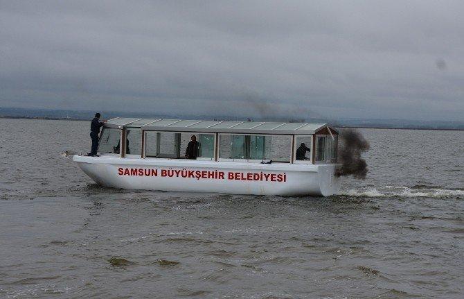 Büyükşehir'den Kızılırmak Deltası Balık Gölüne Gezi Teknesi