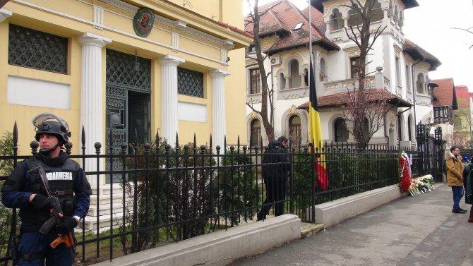 Belçika'nın Bükreş Büyükelçiliği'nde taziye defteri açıldı