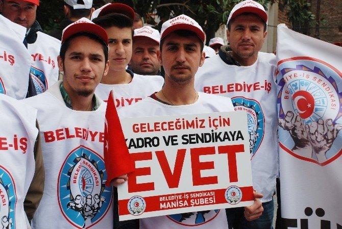 Belediye İşçilerinden Kadro Eylemi