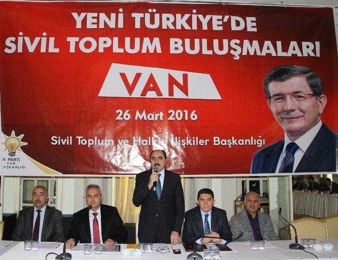 AK Parti, Van'da STK'larla Bir Araya Geldi