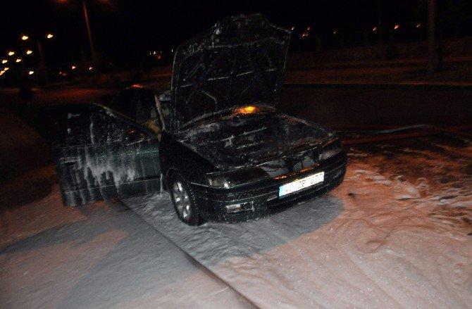 Yeni Aldığı Otomobili Yandı