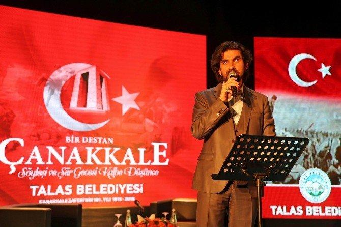 Talas'ta Duygu Yüklü Çanakkale Gecesi